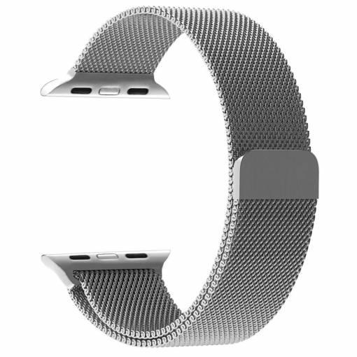 Foto - Milánský tah 42mm stříbrný pro Apple Watch