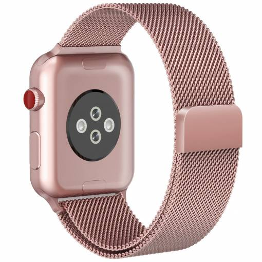 Foto - Milánský tah 38mm růžový pro Apple Watch