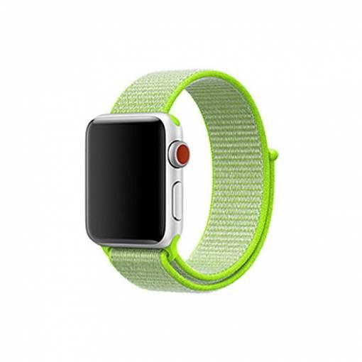 Foto - Nylonový řemínek 42mm světle žlutý pro Apple Watch