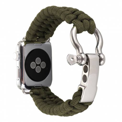 Foto - eses Řemínek Navy nylon 42mm zelený pro Apple Watch