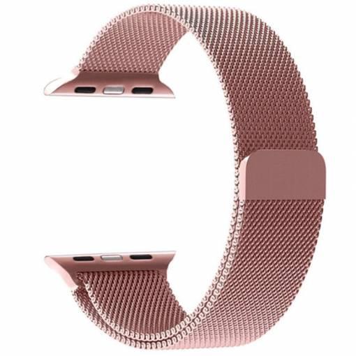 Foto - Milánský tah 42mm růžový pro Apple Watch