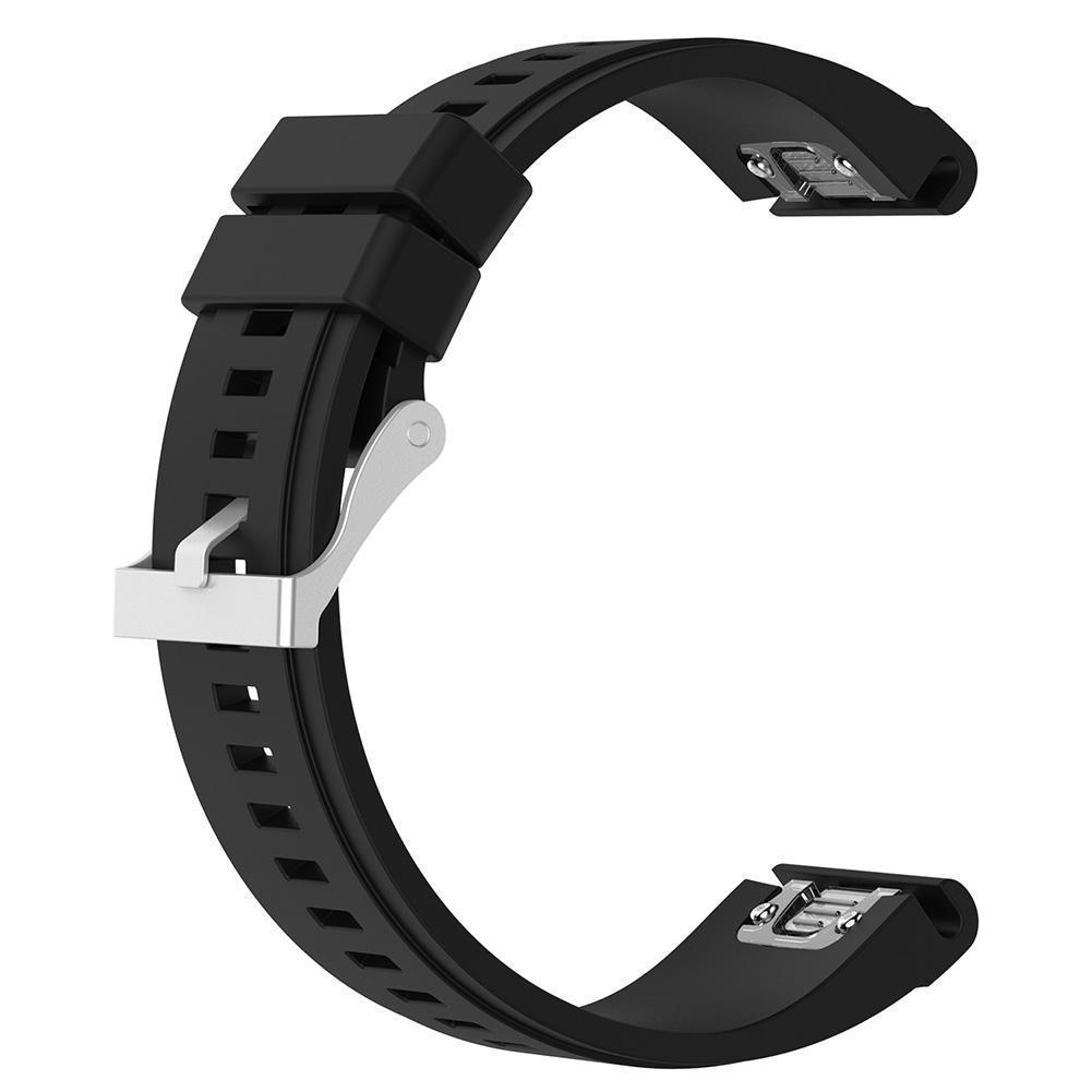 eses Silikonový řemínek černý pro Garmin - EasyFit/QuickFit 26mm