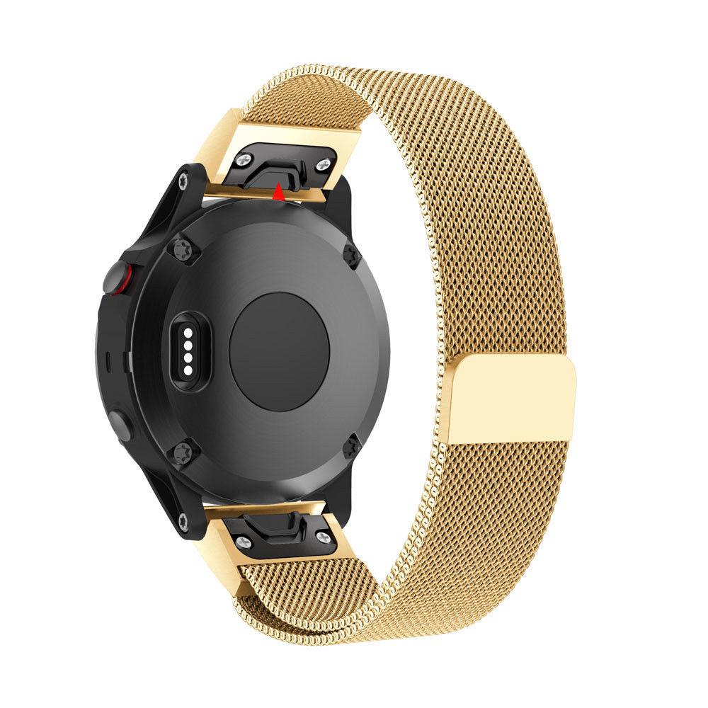 eses Milánský tah zlatý pro Garmin - EasyFit/QuickFit 22mm