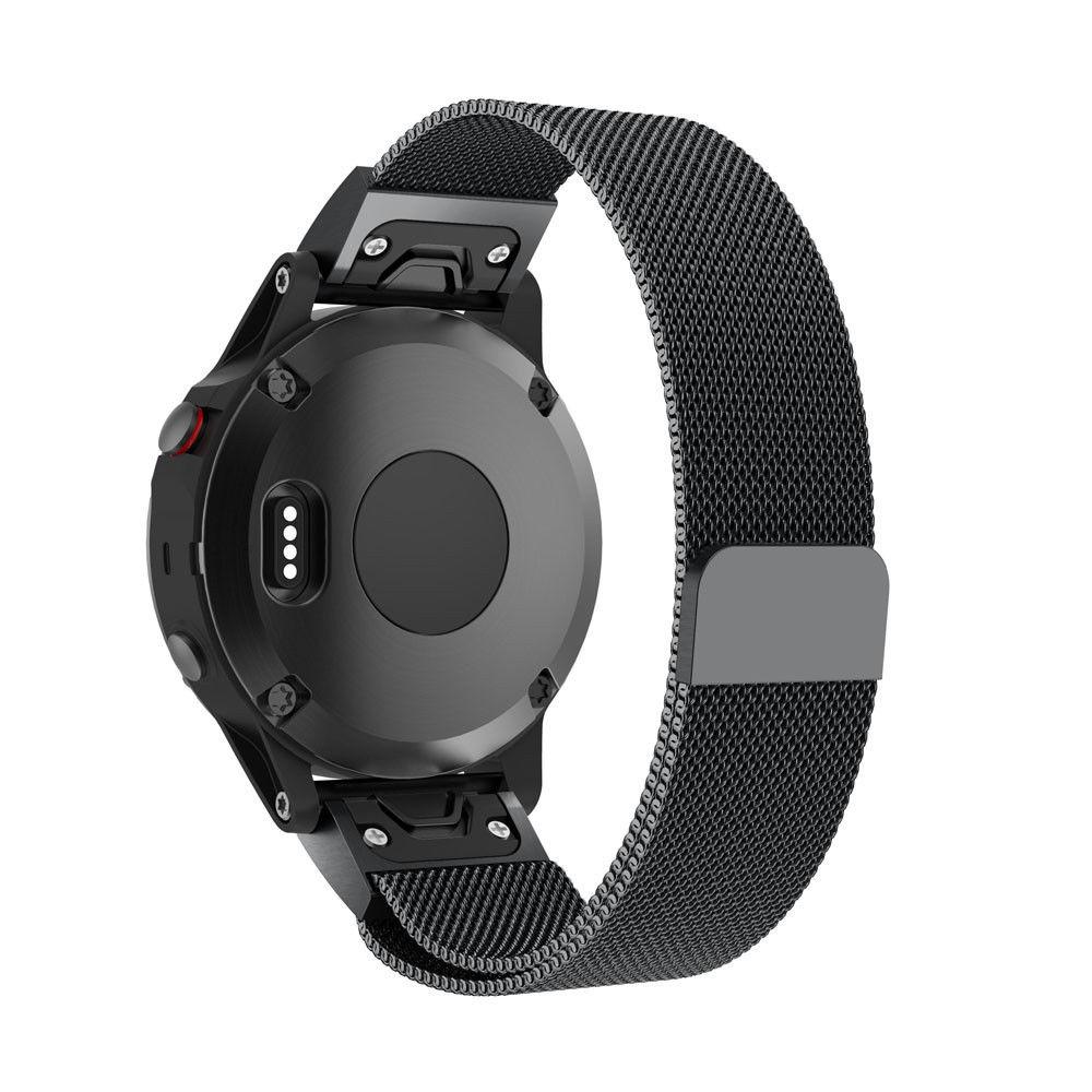 eses Milánský tah černý pro Garmin - EasyFit/QuickFit 20mm