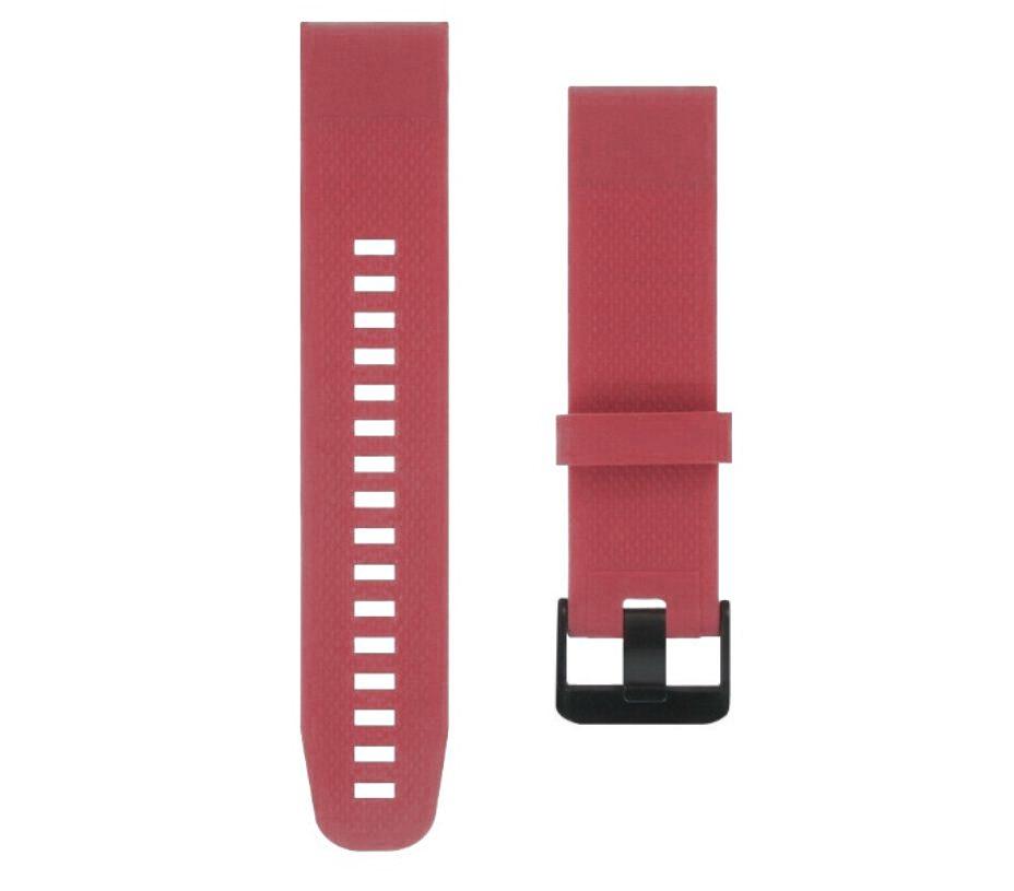 eses Silikonový řemínek malinový pro Garmin - EasyFit/QuickFit 20mm