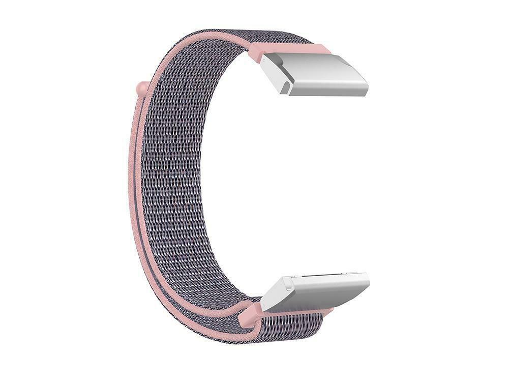 eses Nylonový řemínek světle růžový pro Garmin - EasyFit/QuickFit 22mm